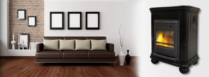 Poêle à bois céramique - Manon