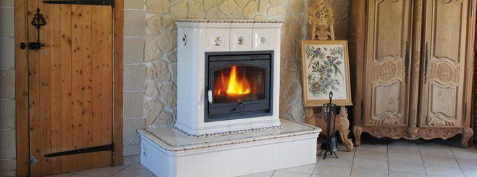 Poêle à bois céramique - Yveline