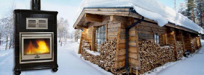 Poêle à bois céramique - Achille