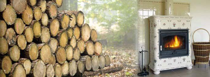 Poêle à bois céramique - Clémence